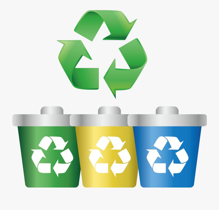Paper Recycling Symbol Label Clip Art - Recycle Bin Logo Png, Transparent Clipart