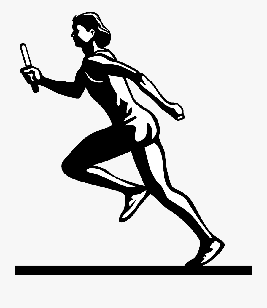 Track And Field Clip Art The Cliparts - Girl Track And Field Drawing, Transparent Clipart