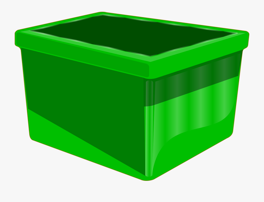 Container Box Green Empty Recycle Recycling Reuse - Recycling Bin With Transparent Background, Transparent Clipart