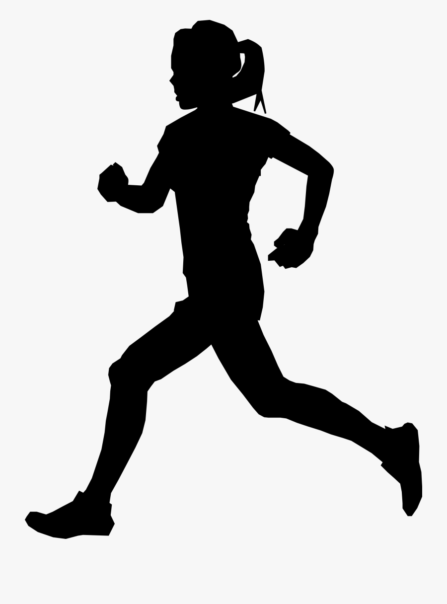 Runner By Algotruneman Female - Female Athlete Silhouette, Transparent Clipart