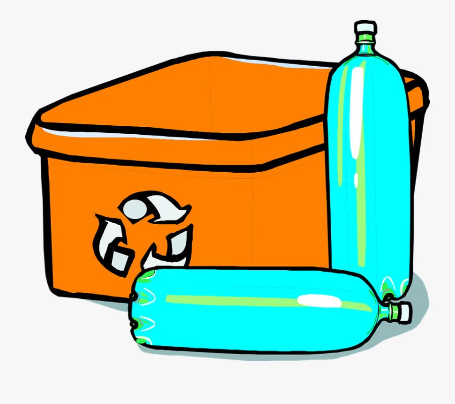 Recycle Bin Bottles Plastic - Transparent Recycling Bin Clipart, Transparent Clipart