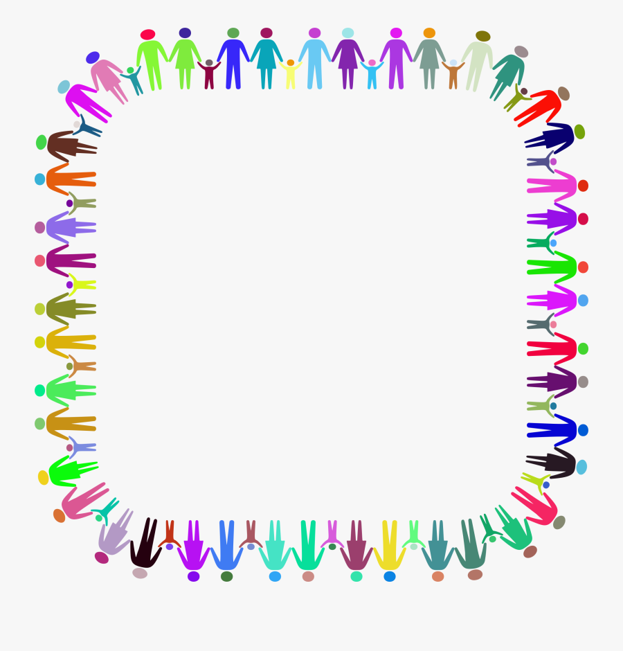 This Free Icons Png Design Of Family Holding Hands - Holding Hands Border Png, Transparent Clipart