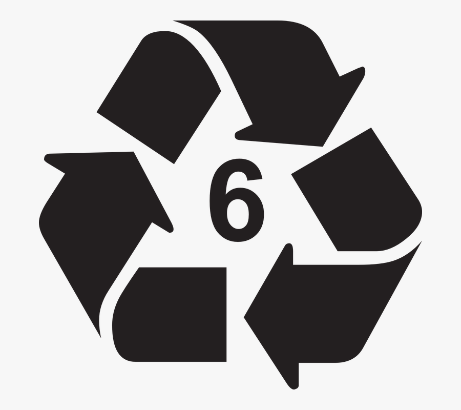 Transparent Recycle Clipart Black And White - Recycle Symbol Grey Png, Transparent Clipart