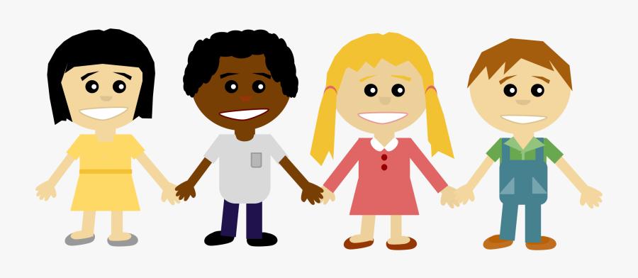 Kids Holding Hands - Friends Holding Hands Clipart, Transparent Clipart