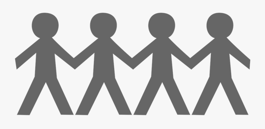 Vector Holding Hands Shop Library Buy Clip Art - Stick People Holding Hands, Transparent Clipart