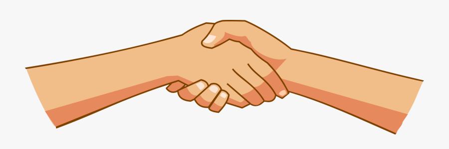 Transparent Holding Hands Clipart - Clip Art Shake Hand, Transparent Clipart