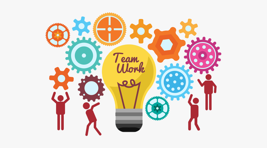 To Light Work Ideas Together Start Teamwork Clipart - Team Work, Transparent Clipart