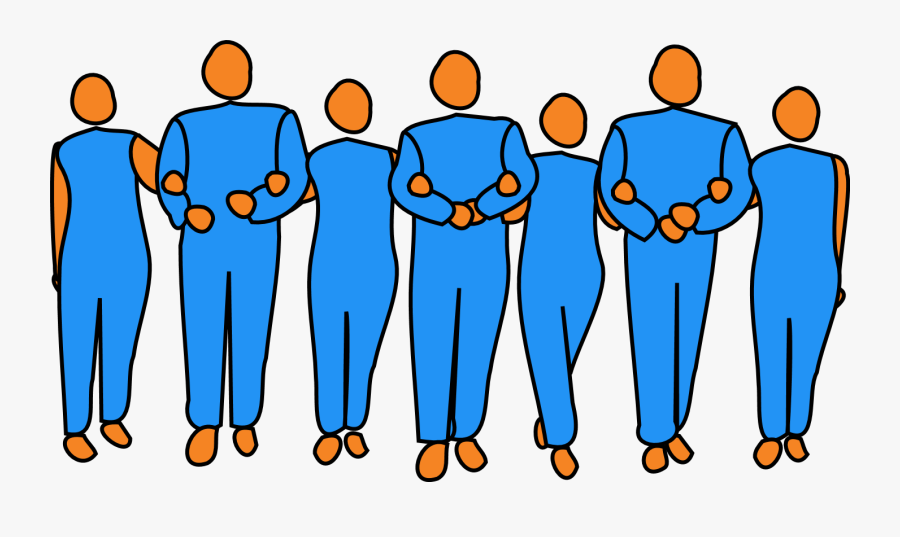 Teamwork - People Locking Arms Clipart, Transparent Clipart