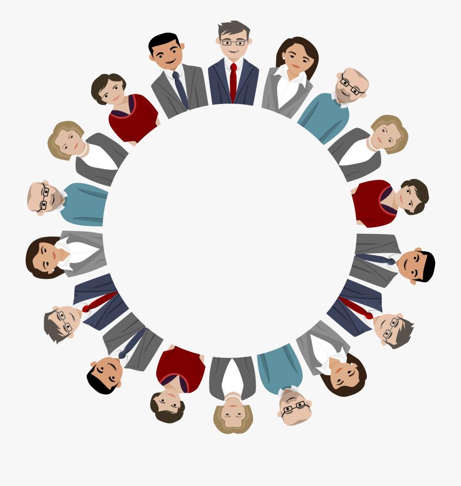 Sharing,business,crowd - Teamwork Frame, Transparent Clipart