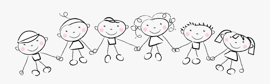Transparent Transparent Hand Png - Kids Holding Hands Clipart, Transparent Clipart