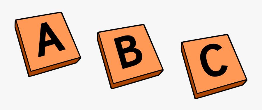 Abc Blocks Clipart - Letter Tiles Clip Art, Transparent Clipart
