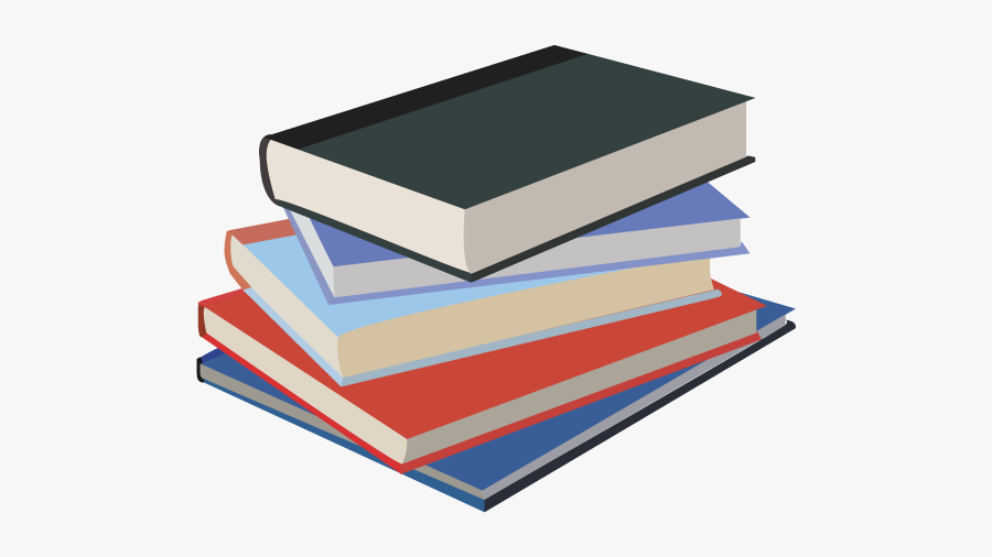 Clipart Library Stack Book - Transparent Stack Of Books, Transparent Clipart