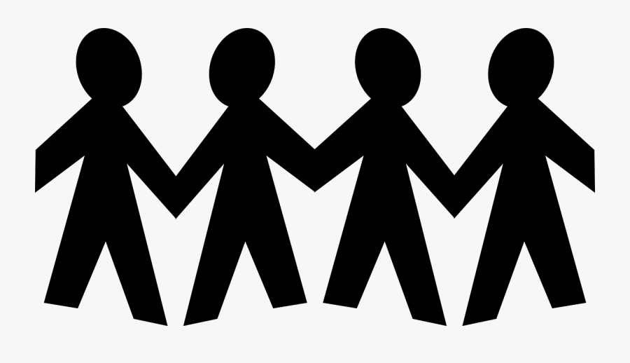 Social Hands,silhouette,clip - Stick Figure Family Png, Transparent Clipart