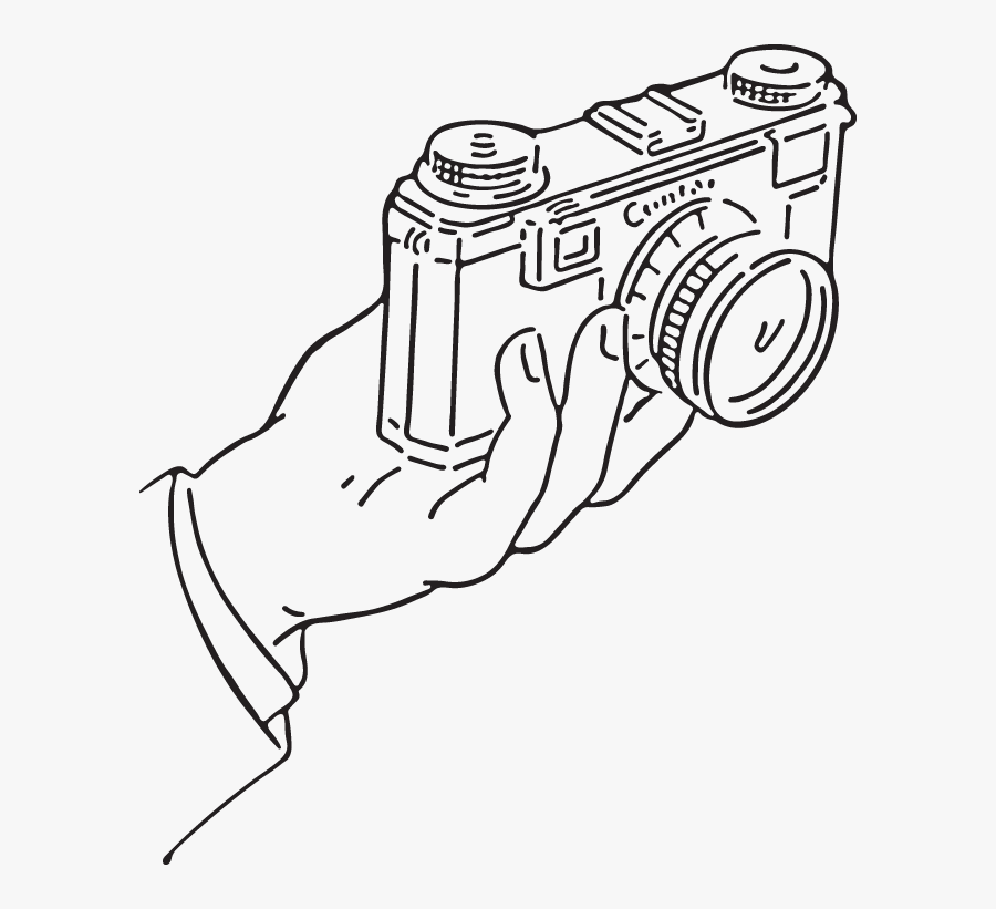 Transparent Hand Holding Pencil Clipart - Camera With A Hand Holding Drawing, Transparent Clipart