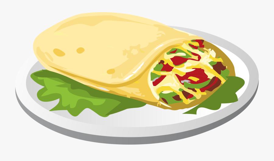 Food Taco Tortilla Meat - Mexican Food Clip Art, Transparent Clipart