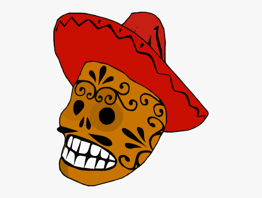 Clipart Skull Borders - Mexican Clipart Black And White, Transparent Clipart