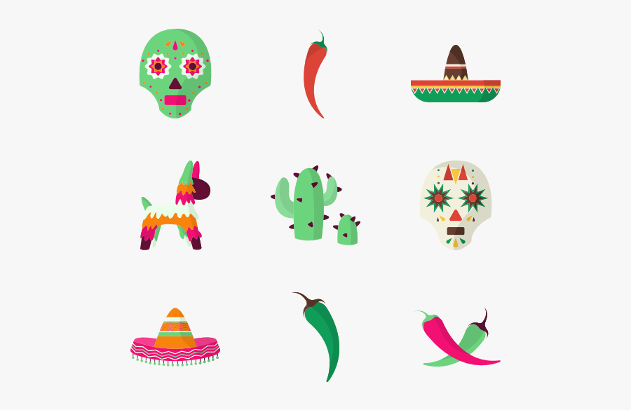 Icon Packs Vector - Mexican Icons Png, Transparent Clipart