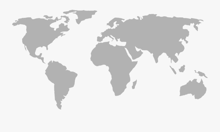 World Map - Easy World Map Simple, Transparent Clipart