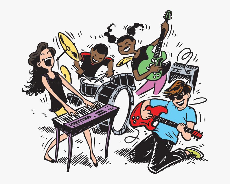 Transparent Riot Clipart - Kids Band, Transparent Clipart