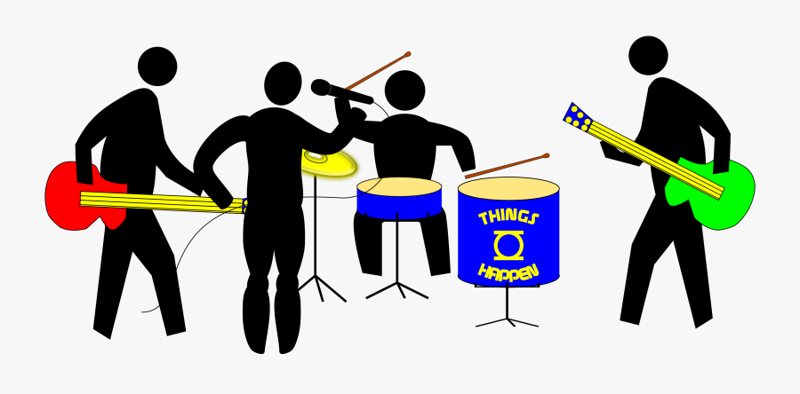 Rock Band Musical Ensemble Marching Band Drawing Clip - Cartoon Band Png, Transparent Clipart