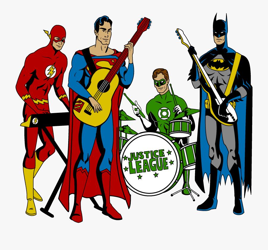 Rock Band Clipart - Justice League Band, Transparent Clipart
