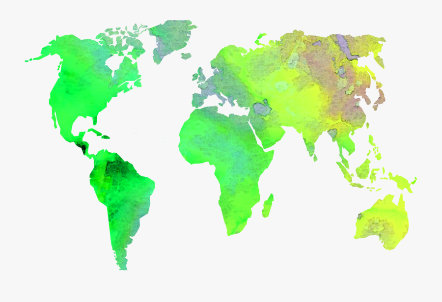 Picture Of Diagram World - High Resolution World Map Png, Transparent Clipart