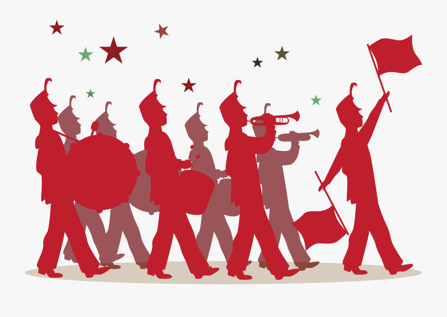 Transparent Band Instruments Clipart - Background Marching Band Vector, Transparent Clipart
