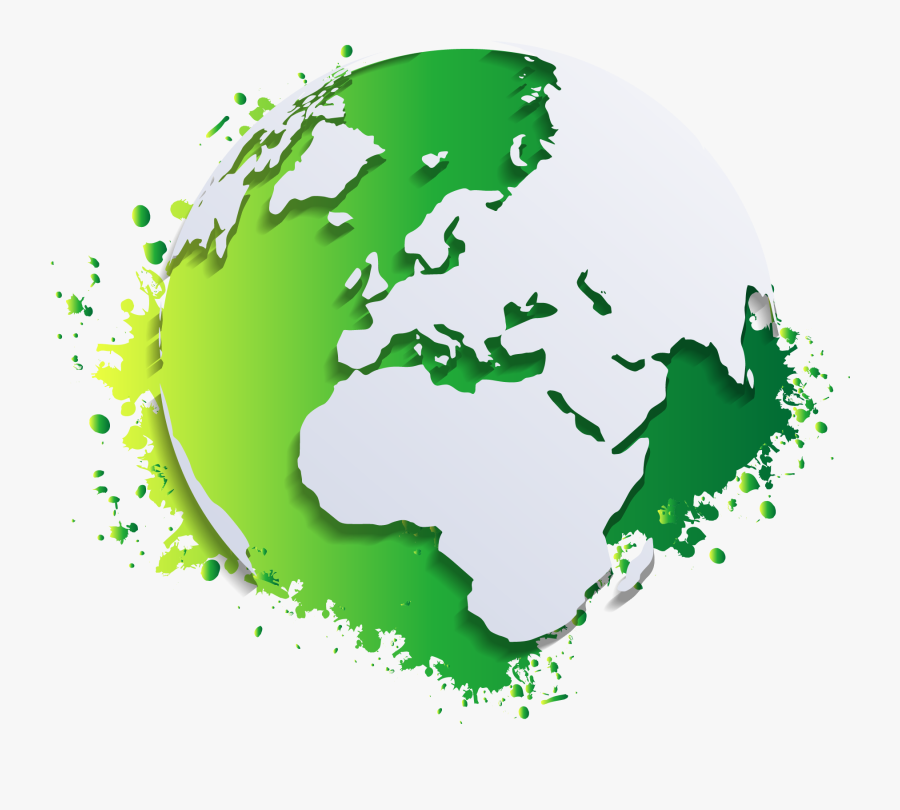 Globe World Map Clip Art - Globe Transparent Background, Transparent Clipart