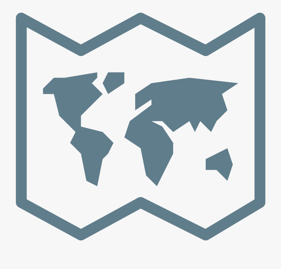 World Map Icon - World Map Png Icon, Transparent Clipart