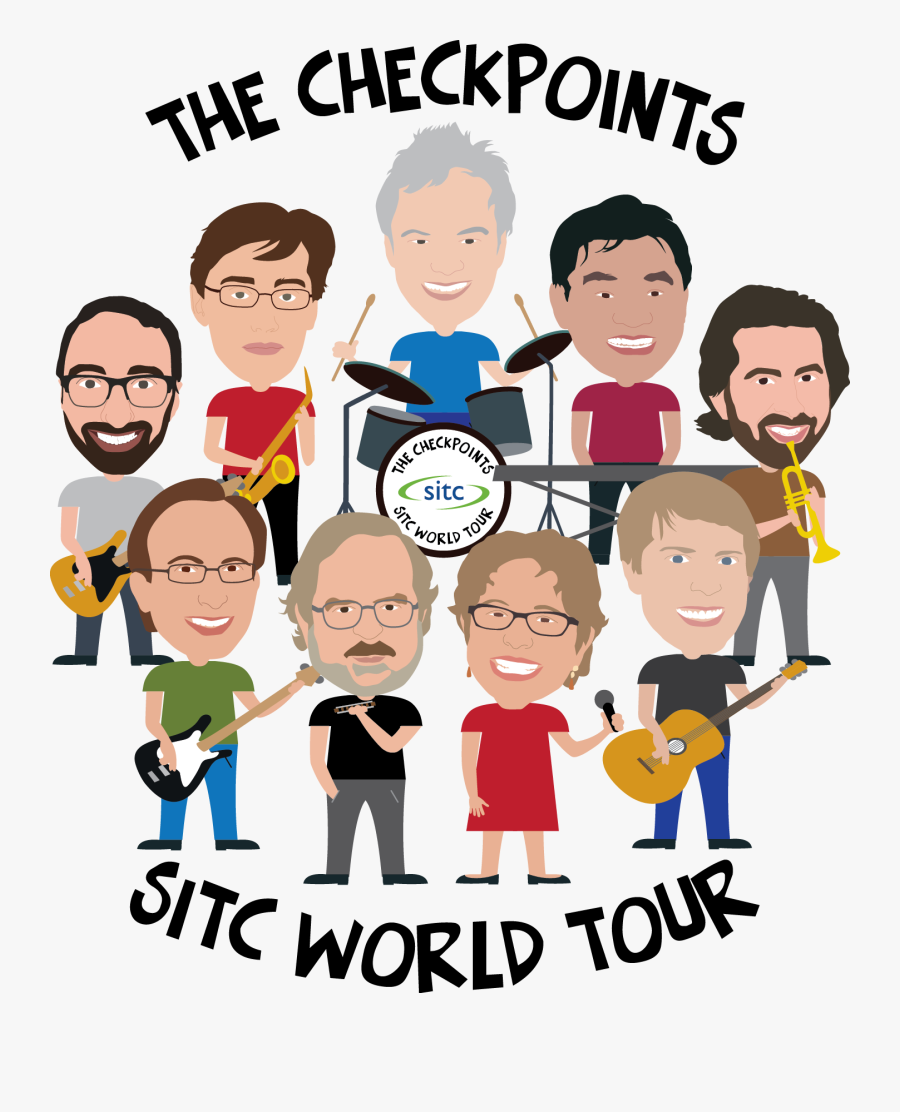 2017 Thecheckpoints Grouped - Jim Allison Checkpoint Band, Transparent Clipart