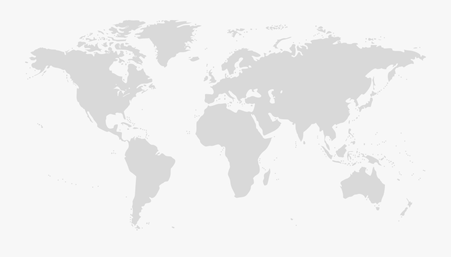 World Map Clipart , Png Download - Blank Color World Map, Transparent Clipart