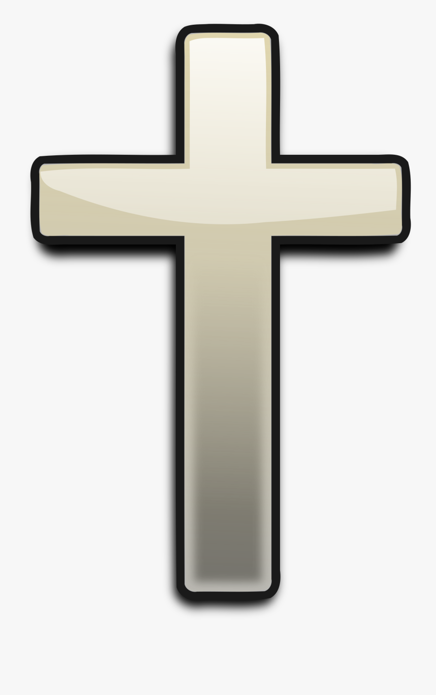 Big Image Png - Cross Without White Background, Transparent Clipart