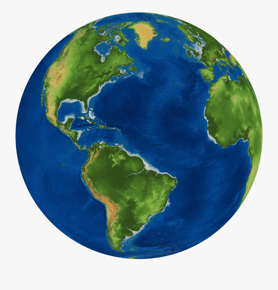 Globe Earth World Map Image - Earth Png Hd, Transparent Clipart