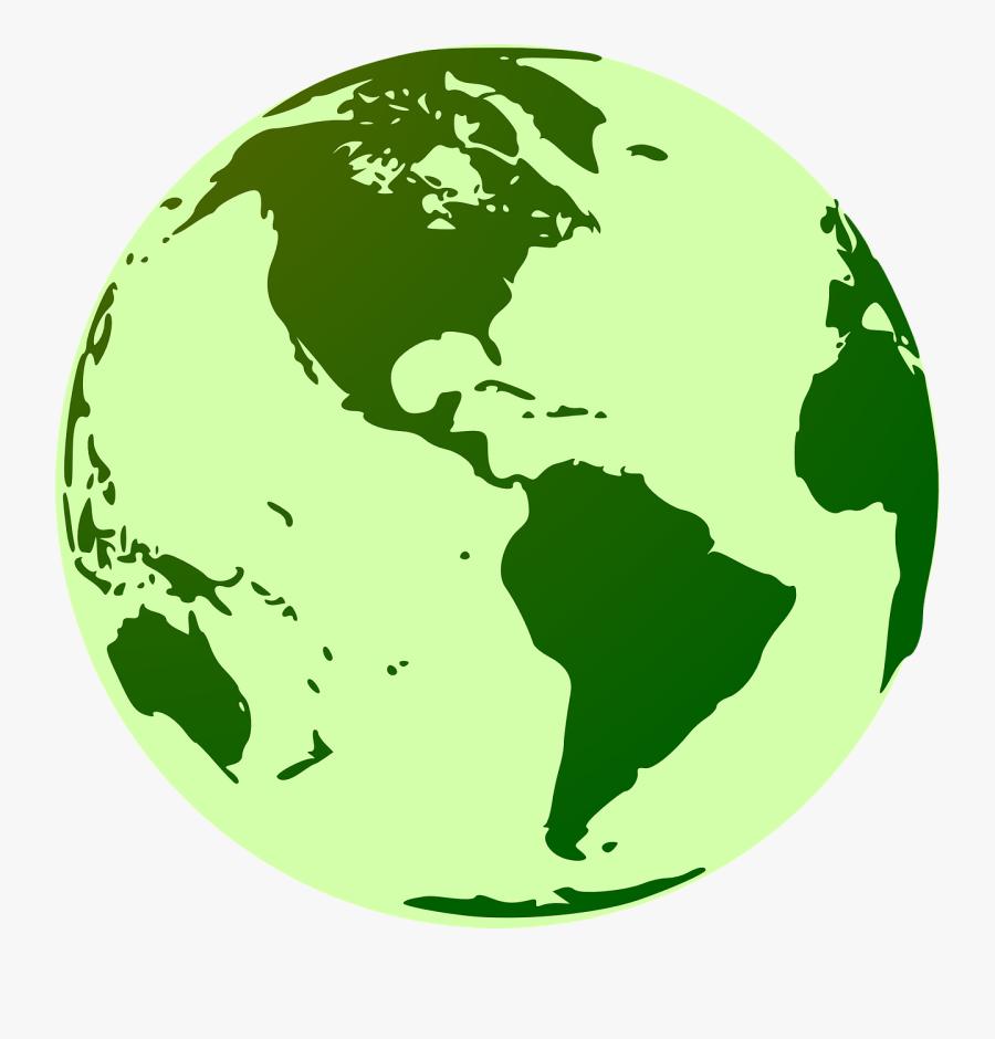 Globe, Earth, Green, World, World Map, International - Clipart Globe, Transparent Clipart