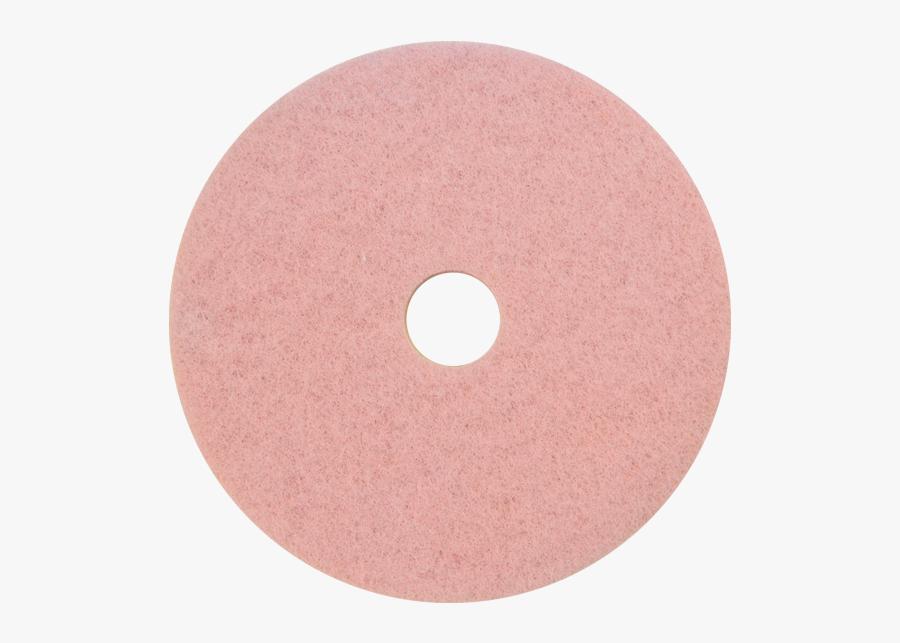 Pink Eraser Burnishing/cleaning Pad - Circle, Transparent Clipart