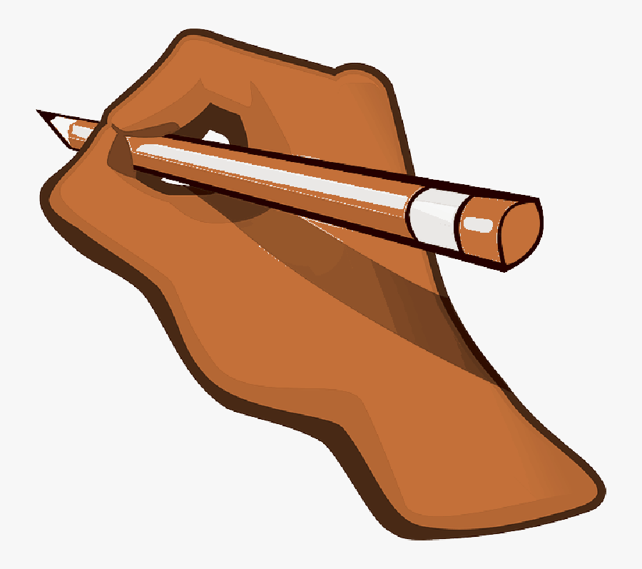 Hand Pencil Pen Edit Eraser Write Writing - Hand With Pencil Animation, Transparent Clipart
