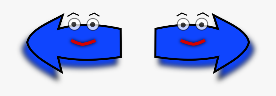 Arrow Set Left-right - Arrows Pointing Left And Right, Transparent Clipart