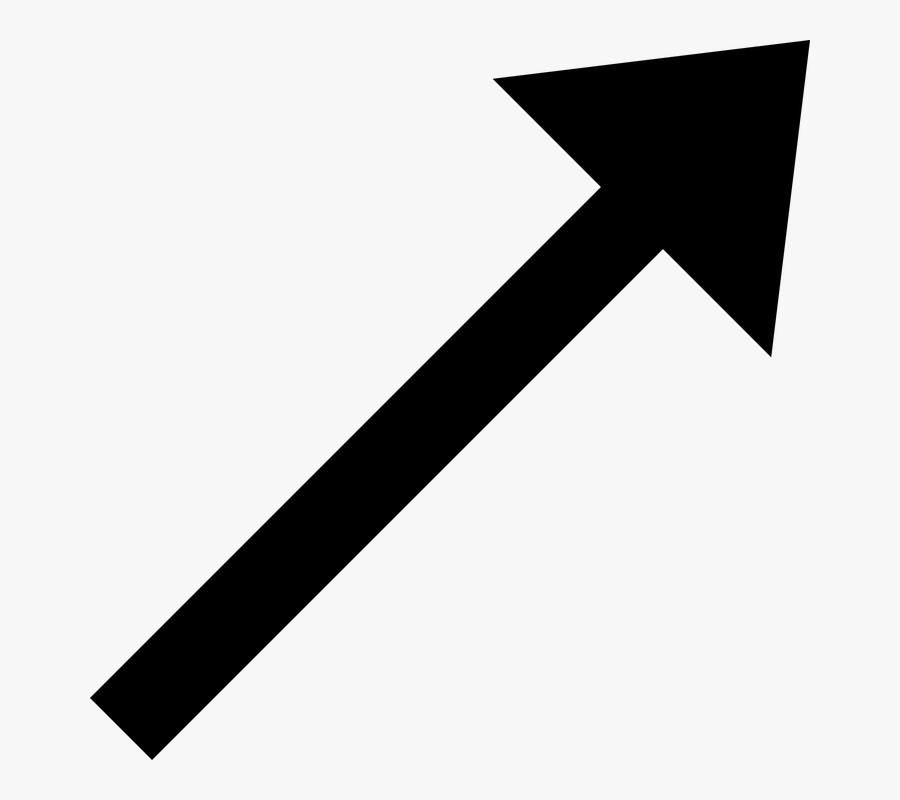 Free Transparent Black Cliparts - Arrow Pointing Diagonally Up, Transparent Clipart