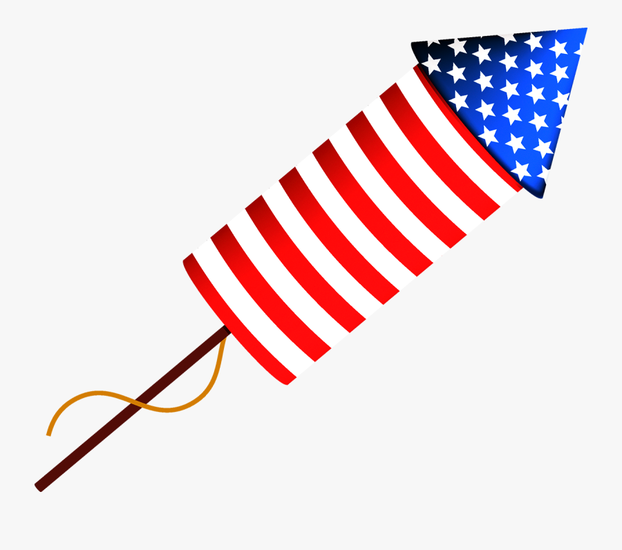Usa Independence Day Clipart Fireworks, Transparent Clipart