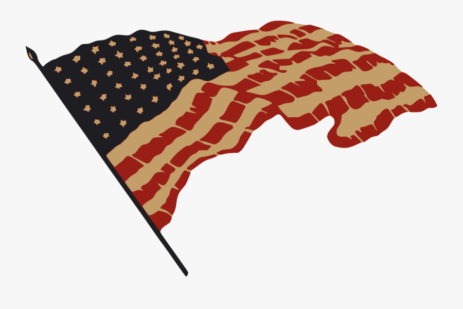 Red,united States,independence Day - American Flag Drawing Transparent Background, Transparent Clipart
