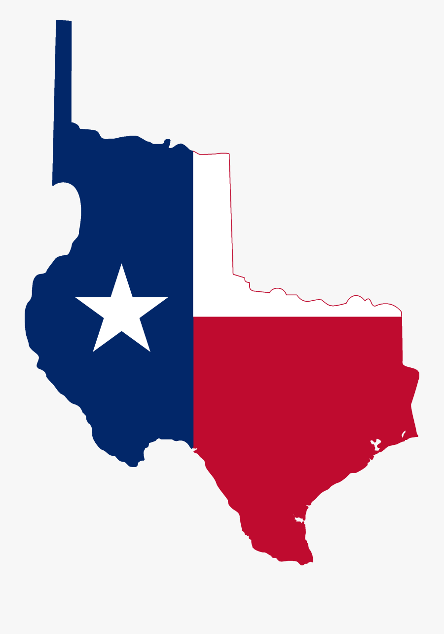 Texas Clipart Independence Day - Republic Of Texas Flag Map, Transparent Clipart