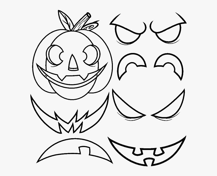 How To Draw Jack O Lantern - Jack O Lantern How To Draw, Transparent Clipart
