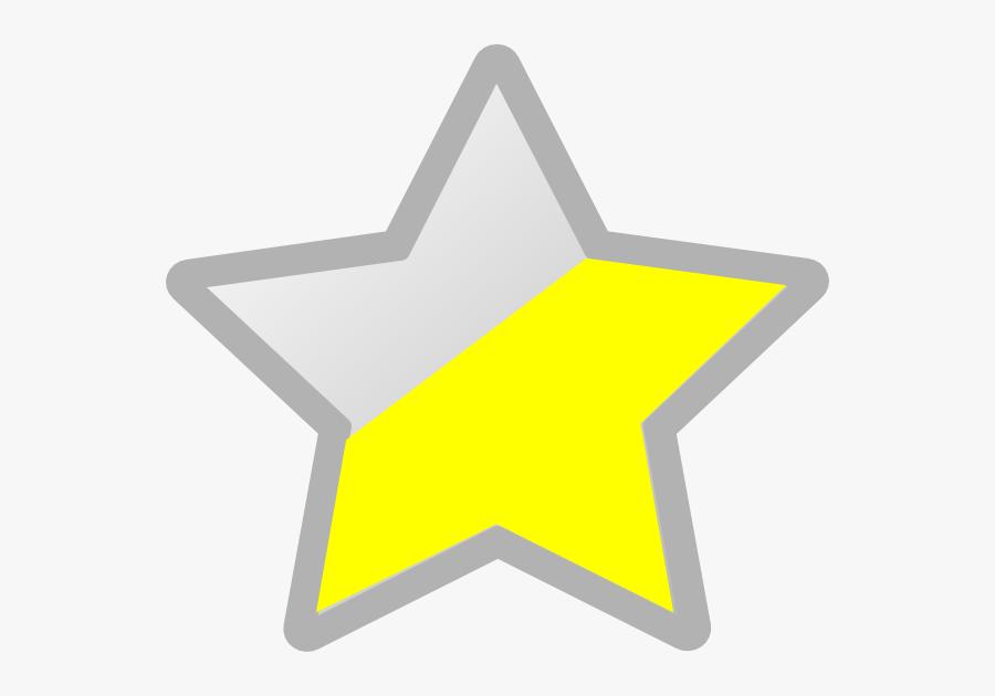 Star Grey/yellow Svg Clip Arts, Transparent Clipart