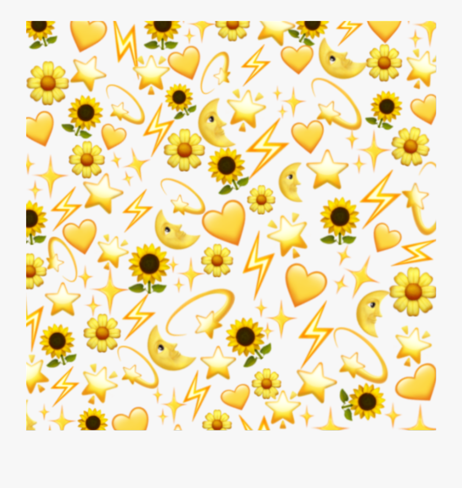 Yellow Yellowbackground Black Sunflower Heart Aesthetic Black And Yellow Background Free Transparent Clipart Clipartkey