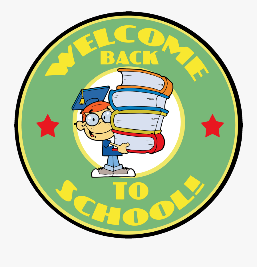 Welcome Back To School Sticker, Transparent Clipart
