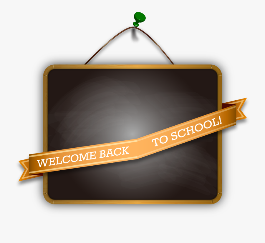 Free Welcome Back To School Sign, Transparent Clipart