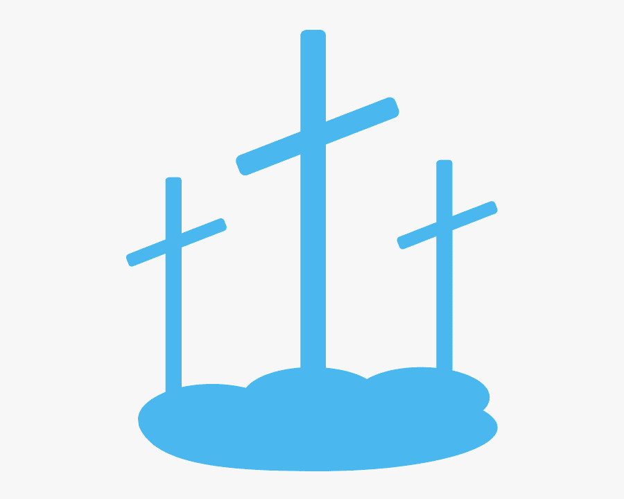 Easter Three Crosses Png, Transparent Clipart