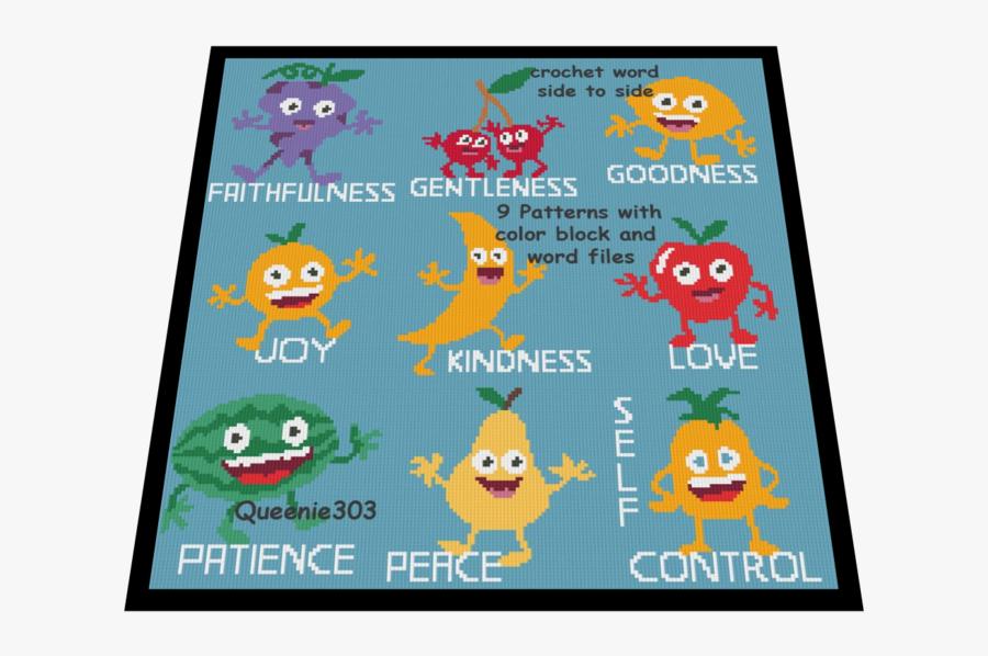 Fruit Of The Spirit Each Bundle Pack 9 Patterns - Cartoon, Transparent Clipart
