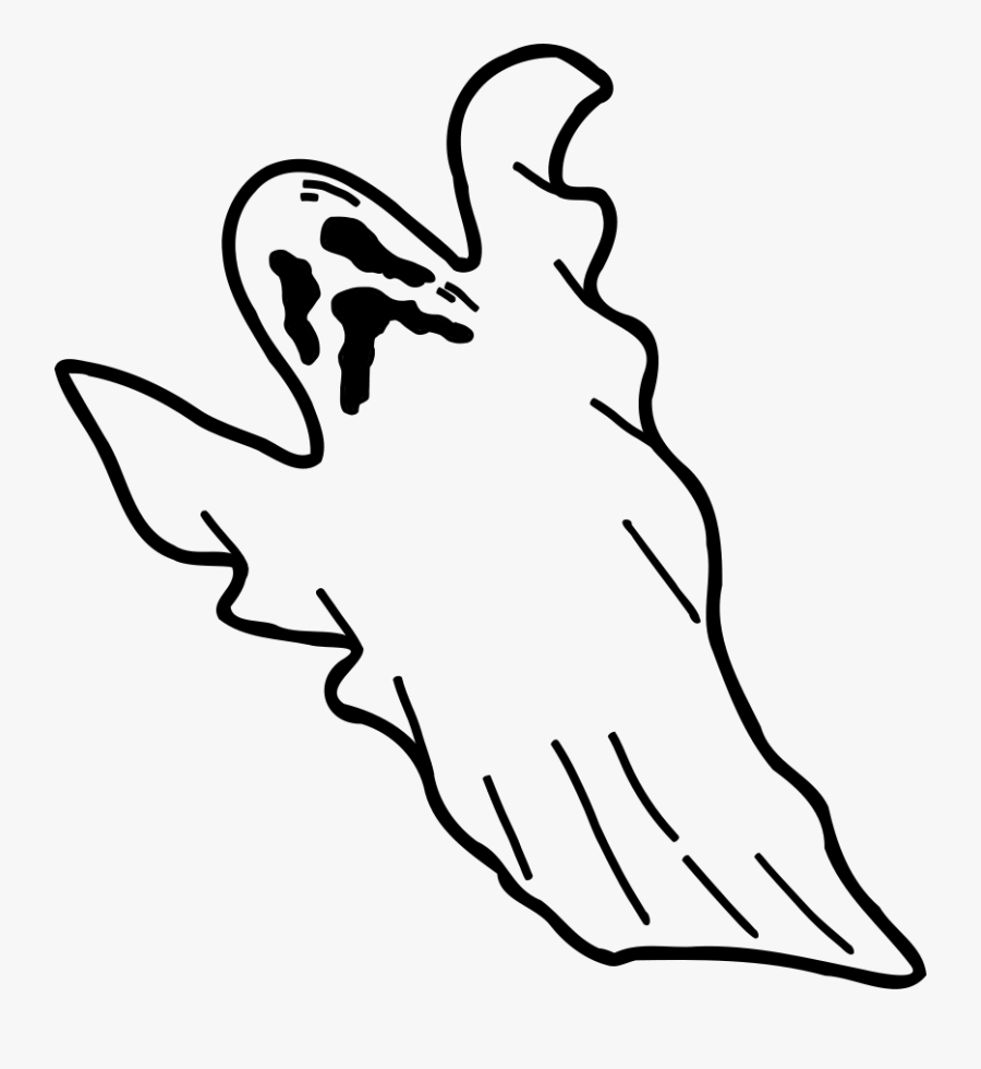 Clipart Of Spirit, Spirits And Helps - Scary Ghost Coloring Pages, Transparent Clipart