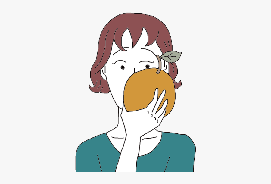 Oranges - Girl Eating Oranges Clip Art, Transparent Clipart
